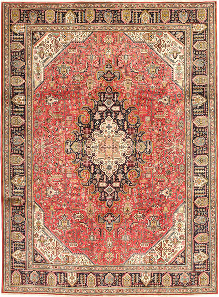 Tabriz Rug 240X335 Authentic  Oriental Handknotted Rust Red/Dark Red (Wool, Persia/Iran)