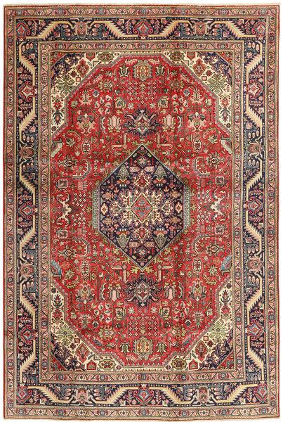 Tebriz Dywan 200X300 Orientalny Tkany Ręcznie Ciemnoczerwony/Ciemnobrązowy (Wełna, Persja/Iran)