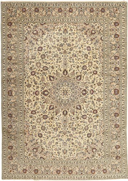 Keshan Rug 285X408 Authentic  Oriental Handknotted Light Brown/Beige Large (Wool, Persia/Iran)