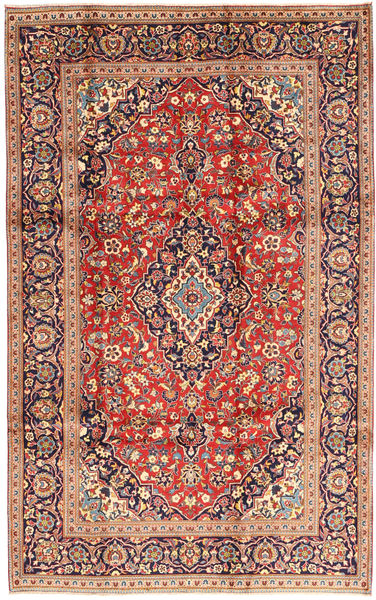 Keshan Rug 195X310 Authentic  Oriental Handknotted Light Brown/Brown (Wool, Persia/Iran)