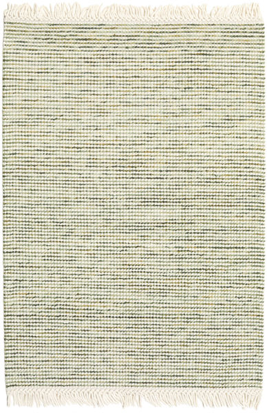 Medium Drop - Groen Mix Vloerkleed 140X200 Echt Modern Handgeweven Beige/Donkerbeige (Wol, India)