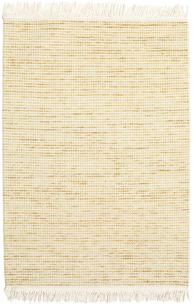 Medium Drop - Gul Mix Teppe 140X200 Ekte Moderne Håndvevd Beige/Gul (Ull, India)