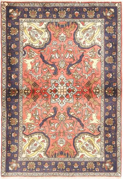 Bidjar Matto 100X145 Itämainen Käsinsolmittu Vaaleanruskea/Beige (Villa, Persia/Iran)