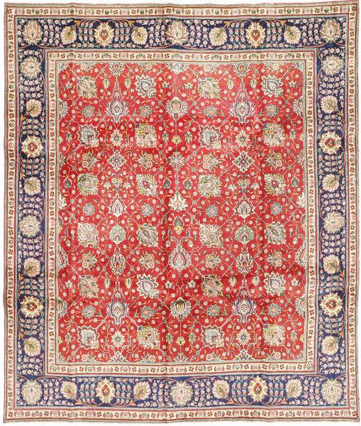 タブリーズ 絨毯 290X348 オリエンタル 手織り 錆色/ベージュ 大きな (ウール, ペルシャ/イラン)