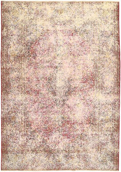 Colored Vintage Tapis 233X330 Moderne Fait Main Rose Clair/Beige/Marron Clair (Laine, Perse/Iran)