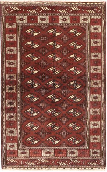 Turkaman Rug 132X220 Authentic  Oriental Handknotted Dark Red/Brown (Wool, Persia/Iran)