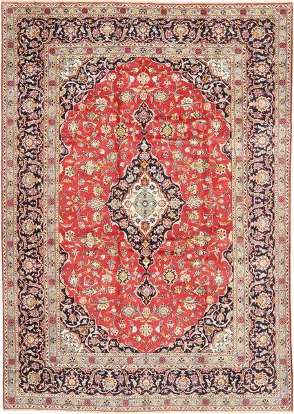 Keshan Matto 260X377 Itämainen Käsinsolmittu Vaaleanruskea/Vaaleanharmaa Isot (Villa, Persia/Iran)