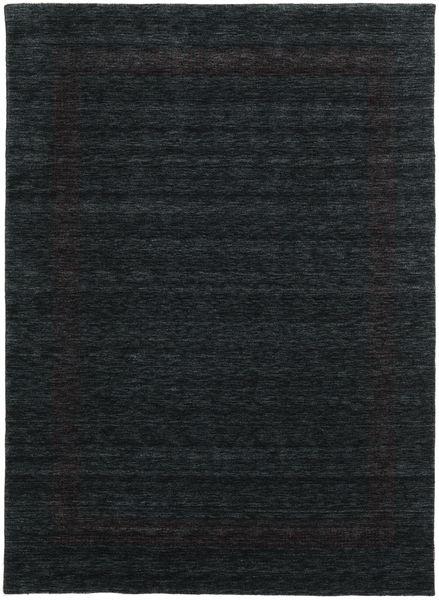 Handloom Gabba - Zwart/Grijs Vloerkleed 210X290 Modern Zwart (Wol, India)
