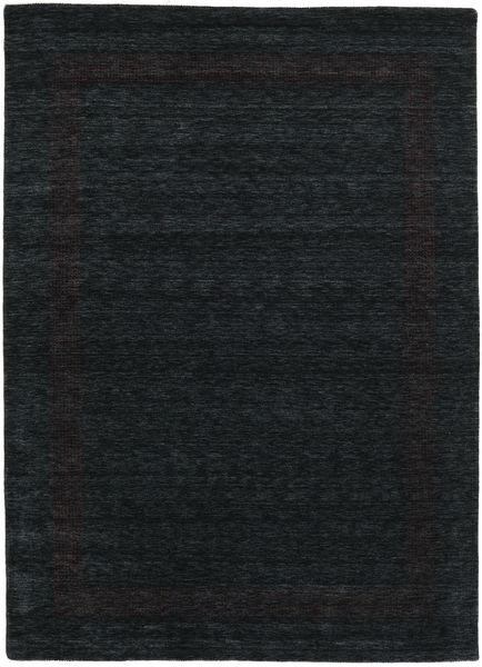 Handloom Gabba - Musta/Harmaa Matto 240X340 Moderni Musta (Villa, Intia)