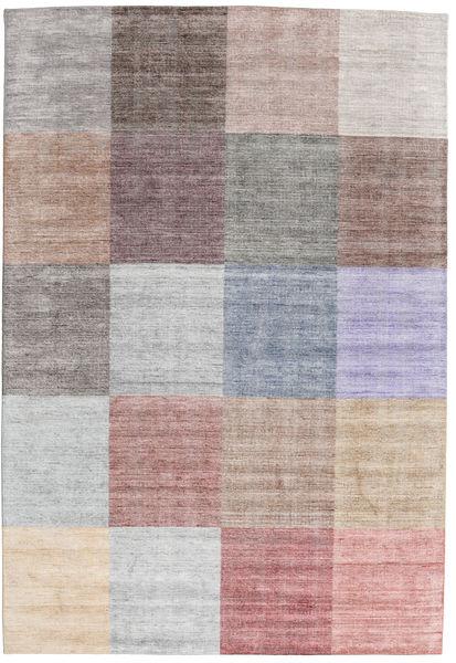 Malva - ダーク/Multi 絨毯 200X300 モダン 手織り 薄い灰色/ホワイト/クリーム色 (ウール/バンブーシルク, インド)