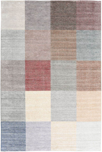 Malva - Light/Multi Rug 200X300 Authentic  Modern Handknotted Light Grey/Beige/Light Purple (Wool/Bamboo Silk, India)