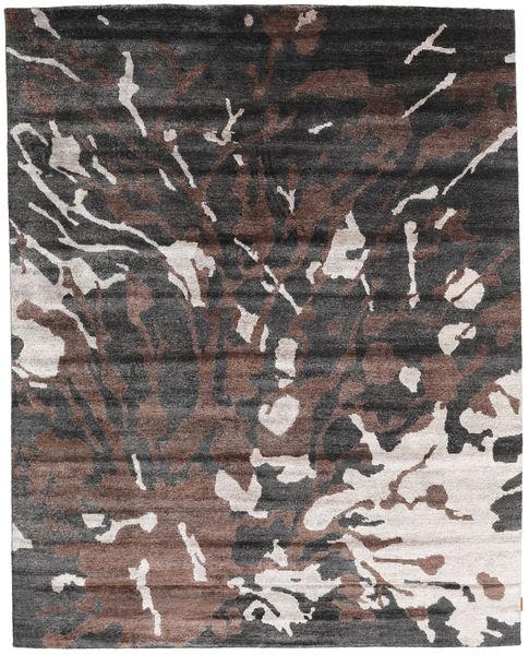 Nepal Original Teppe 240X301 Ekte Moderne Håndknyttet Lysbrun/Svart (Ull/Bambus Silke, Nepal/Tibet)