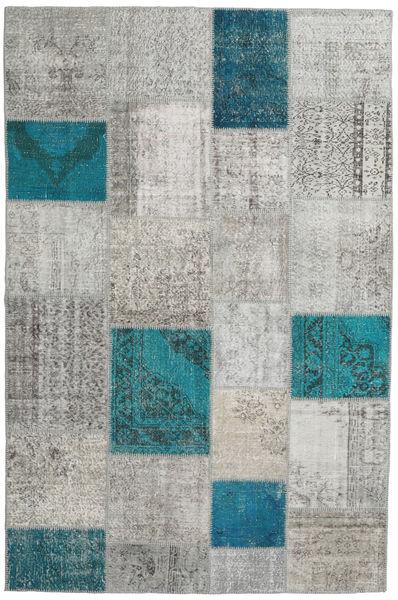 Patchwork Rug 200X302 Authentic  Modern Handknotted Light Grey/Dark Grey (Wool, Turkey)