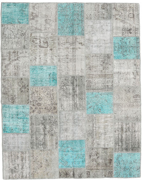 Patchwork Rug 200X253 Authentic  Modern Handknotted Light Grey (Wool, Turkey)
