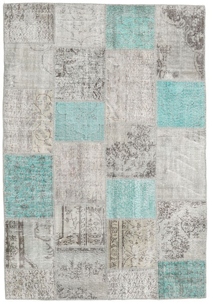 Patchwork Rug 160X231 Authentic  Modern Handknotted Light Grey/Light Blue (Wool, Turkey)