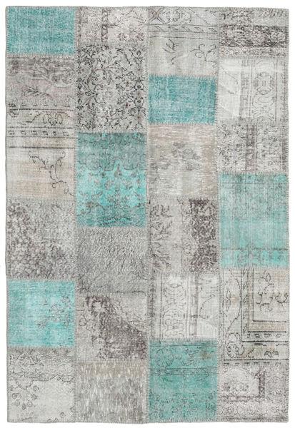 Patchwork Rug 156X232 Authentic  Modern Handknotted Light Grey/Beige (Wool, Turkey)