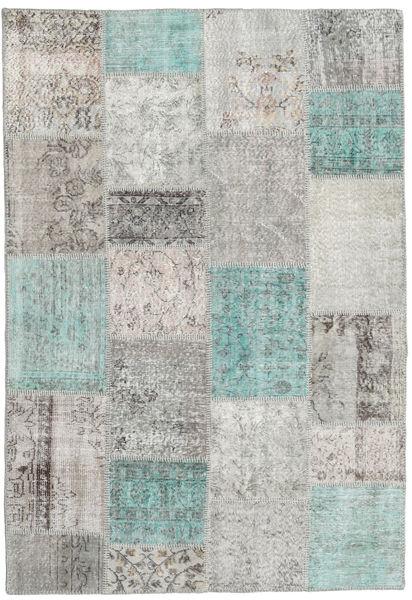Patchwork Rug 159X231 Authentic  Modern Handknotted Light Grey/Dark Grey (Wool, Turkey)