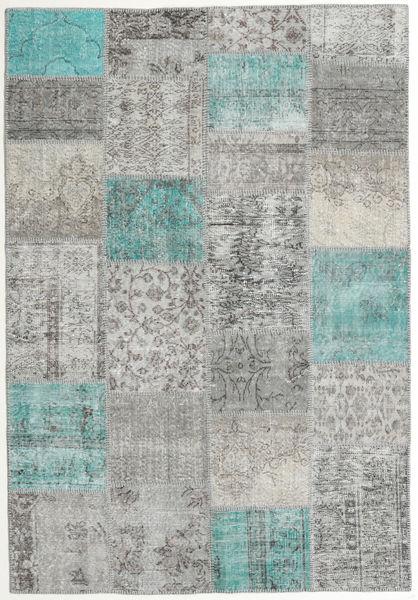 Patchwork Rug 160X231 Authentic  Modern Handknotted Light Grey/Dark Grey (Wool, Turkey)