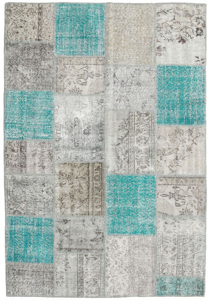 Patchwork Rug 159X233 Authentic  Modern Handknotted Light Grey/Beige (Wool, Turkey)