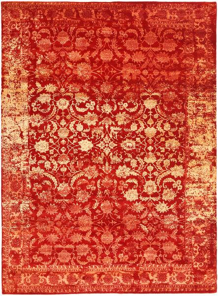Roma Moderni Collection Matto 274X375 Moderni Käsinsolmittu Ruoste/Oranssi Isot ( Intia)