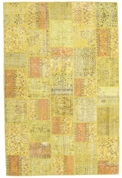 パッチワーク 絨毯 200X302 モダン 手織り 黄色 (ウール, トルコ)