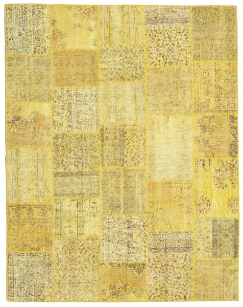 Patchwork Rug 199X253 Authentic  Modern Handknotted Yellow (Wool, Turkey)