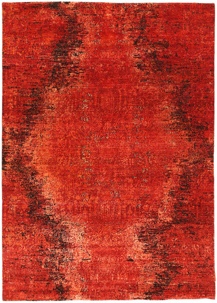 Roma Moderne Collection Tæppe 172X243 Ægte Moderne Håndknyttet Rust/Orange ( Indien)