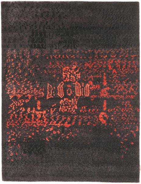 Roma Moderni Collection Tappeto 178X233 Moderno Fatto A Mano Grigio Scuro/Blu Scuro ( India)