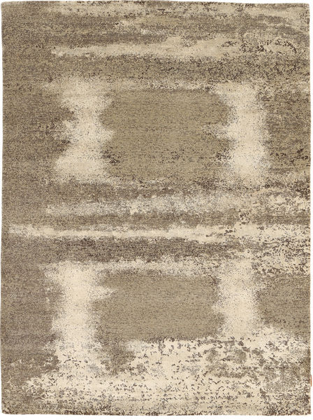 Damask Collection Rug 175X240 Authentic  Modern Handknotted Light Brown/Beige ( India)