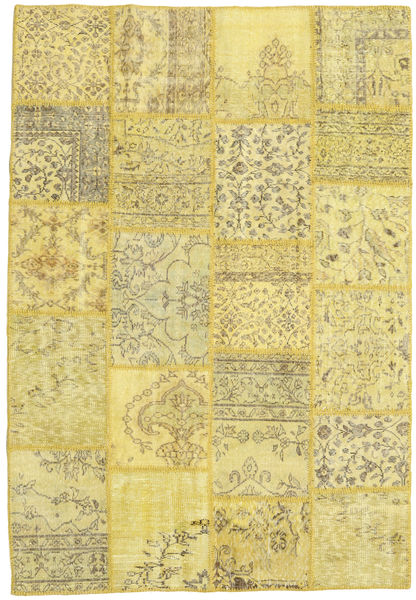 Patchwork Rug 157X230 Authentic  Modern Handknotted Yellow/Light Green (Wool, Turkey)