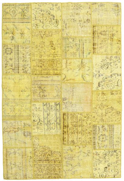 パッチワーク 絨毯 158X237 モダン 手織り 黄色/オリーブ色 (ウール, トルコ)
