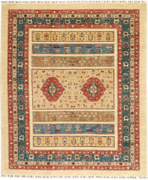 Ziegler/Shali Teppe 249X298 Ekte Orientalsk Håndknyttet Mørk Beige/Beige (Ull, India)