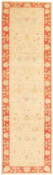Ziegler Rug 82X297 Authentic  Oriental Handknotted Hallway Runner  Beige/Light Pink (Wool, Pakistan)