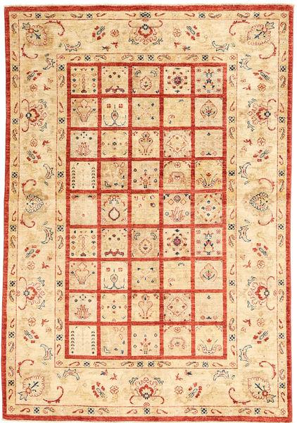 Ziegler Rug 146X216 Authentic  Oriental Handknotted Beige/Crimson Red (Wool, India)