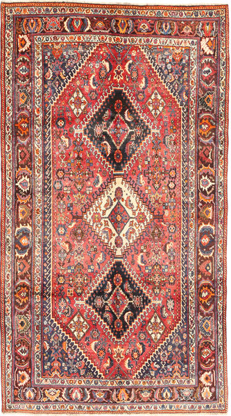 Shiraz Rug 153X292 Authentic  Oriental Handknotted Brown/Dark Red (Wool, Persia/Iran)