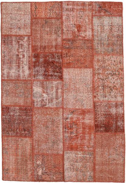 Patchwork Tapis 158X230 Moderne Fait Main Marron/Rose Clair (Laine, Turquie)