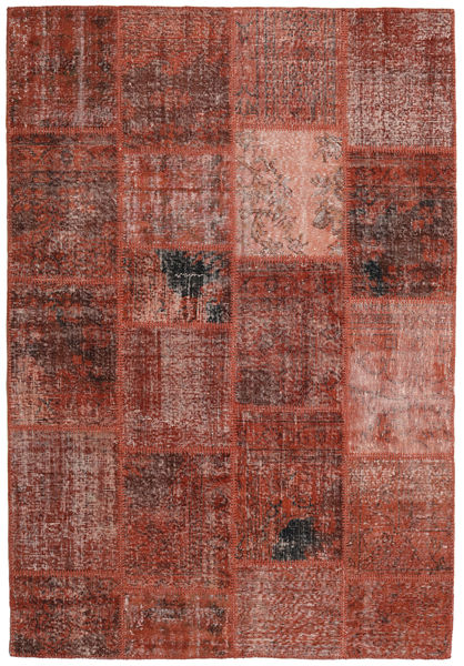 Patchwork Rug 159X232 Authentic  Modern Handknotted Brown/Dark Red (Wool, Turkey)