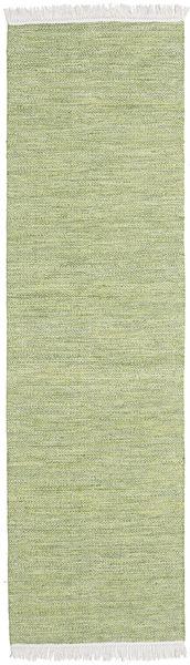 Diamond Wool - Green Rug 80X340 Authentic  Modern Handwoven Hallway Runner  Light Green/Beige (Wool, India)