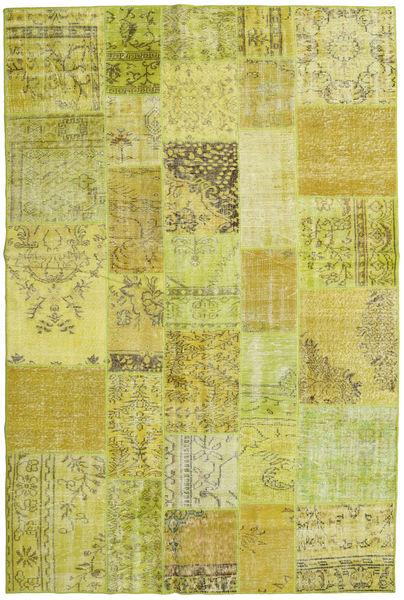 Patchwork Tapete 199X301 Moderno Feito A Mão Amarelo/Verde Azeitona (Lã, Turquia)