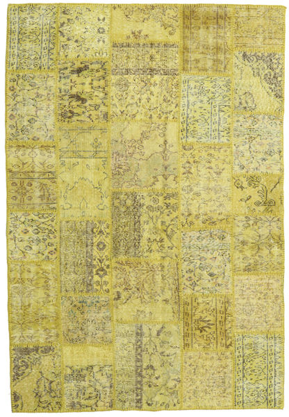 Patchwork Rug 159X236 Authentic  Modern Handknotted Yellow/Olive Green (Wool, Turkey)