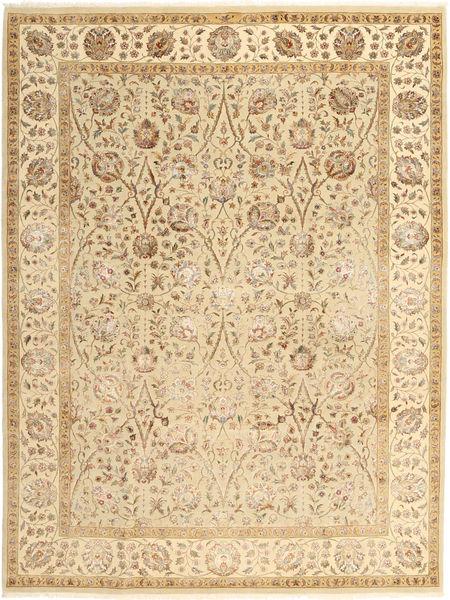 Tabriz Royal Alfombra 215X285 Oriental Hecha A Mano Marrón Claro/Beige Oscuro/Beige ( India)