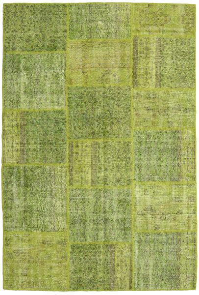 Patchwork Alfombra 158X234 Moderna Hecha A Mano Verde Claro/Verde Oliva (Lana, Turquía)