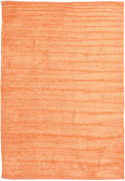Kilim Chenille - Peach Orange Rug 160X230 Authentic  Oriental Handwoven Orange/Dark Beige ( India)