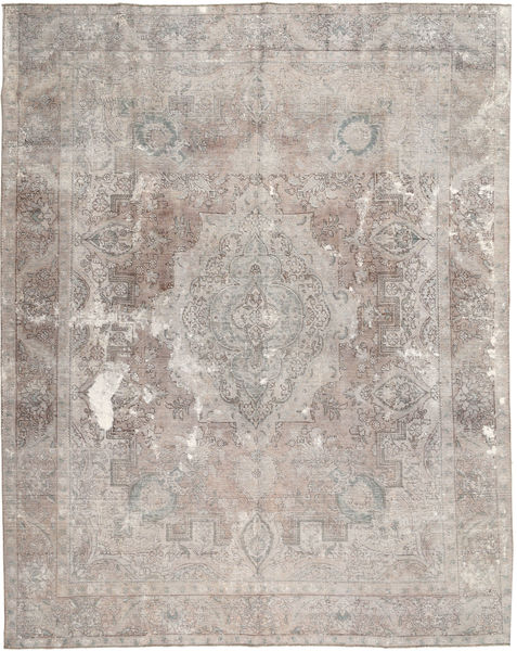Colored Vintage Rug 295X369 Authentic  Modern Handknotted Light Grey/Dark Grey Large (Wool, Pakistan)