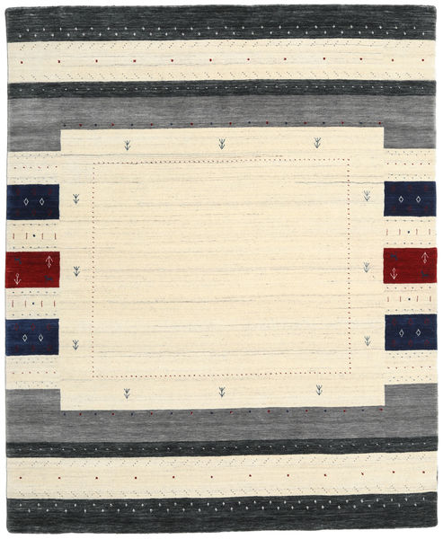 Loribaf Loom Designer Rug 190X240 Authentic  Modern Handknotted Beige/Dark Grey (Wool, India)