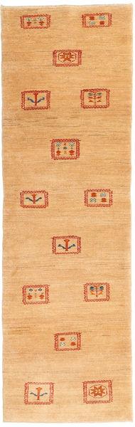 ギャッベ ペルシャ 絨毯 79X271 モダン 手織り 廊下 カーペット 薄茶色/暗めのベージュ色の (ウール, ペルシャ/イラン)