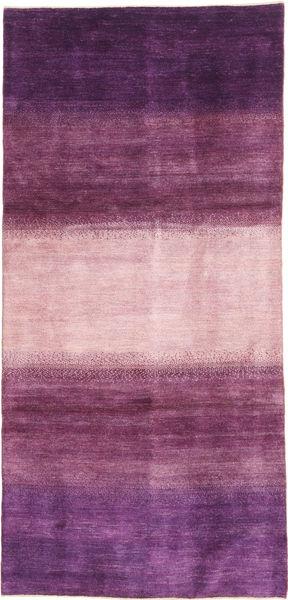 Gabbeh Persan Tapis 128X280 Moderne Fait Main Tapis Couloir Violet Foncé/Rose (Laine, Perse/Iran)