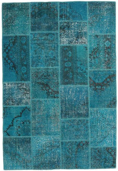 Patchwork Szőnyeg 157X231 Modern Csomózású Sötét Turquoise/Türkiz Kék (Gyapjú, Törökország)