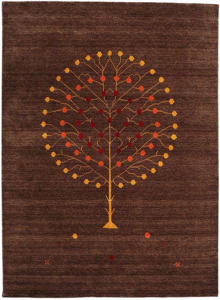 Loribaf Loom Designer - Brown Rug 210X290 Authentic  Modern Handknotted Dark Brown/Dark Red (Wool, India)