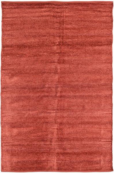 Kelim Chenille - Coppery_ Matto 120X180 Itämainen Käsinkudottu Ruoste/Tummanpunainen ( Intia)